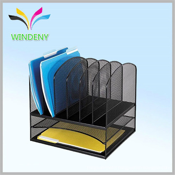 Office stationery set Mesh Desk Organizer with 5 Upright Sections