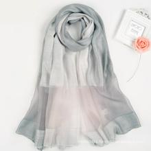 Fashion elegant women collection Multi Color digital print custom design square silk scarf turkish silk scarf