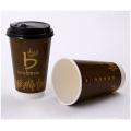 Kundenspezifisches Wegwerfdoppelpapier, Wärmedämmungs-Cup, heiße Schale 12 Unzen