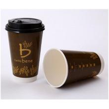 Papel descartável descartável dobro, copo da isolação de calor, copo quente 12 onças