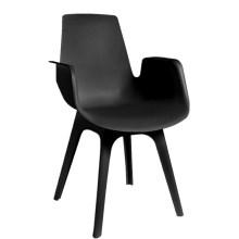 Muebles baratos al por mayor de alta calidad de plástico apoyabrazos silla de comedor