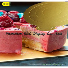 Tablas de torta redondas a prueba de agua con bordes de flores para pastelerías con SGS (B & _K064)