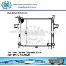 AUto Part Radiator For CHRYSLER Grand Cherokee Commander 05-08 Manufacturer Hot Sale