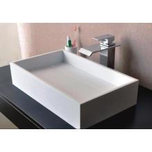 Cuarto de baño rectangular de la encimera de los cuartos de baño de mármol blanco del lavabo (BS-8317)