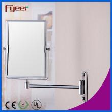 Rectángulo Fyeer Espejo de maquillaje de pared de latón (M4228)