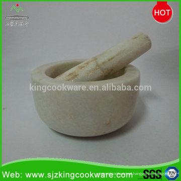 Venda quente de mármore / pedra de granito almofariz e pilão ferramentas de corte de pedra morter conjuntos e pilão