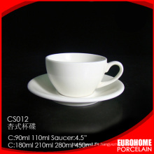 TOP manufacturer wholesale snow white porcelain dinner coffee cup