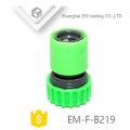 EM-F-B219 conector de mangueira de plástico verde para jardim