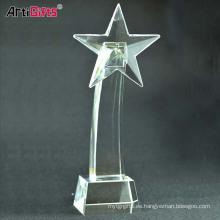 Trofeos y premios cristalinos transparentes de encargo baratos al por mayor