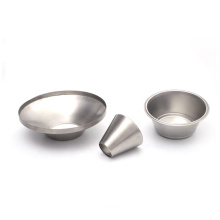 custom designed deep drawing forming brushed stainless steel lamp cover deep drawn process parts