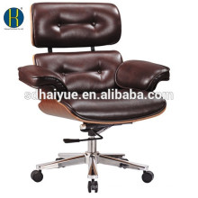 rose wood comfortable chair high back lounge office chair big boss plywood leather chair