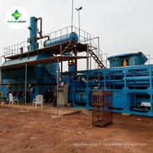 Déchets de pneus / plastique / caoutchouc à 85% ~ 90% d'usine de distillation diesel d'exportation vers 50 pays