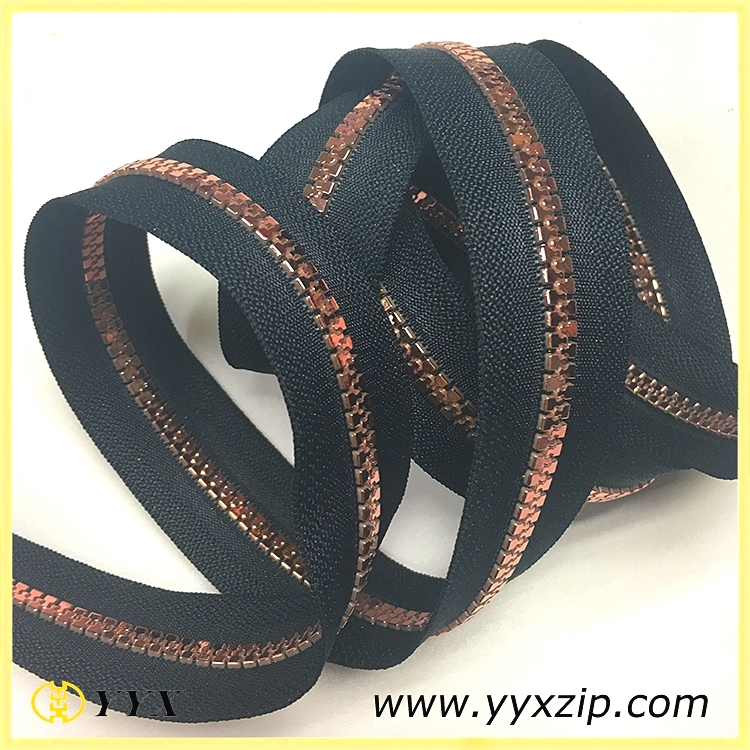 Custom lace plastic zipper