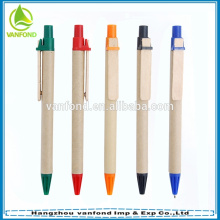 ECO Friendly Promotional Recycled Gift Pen with Wooden Clip