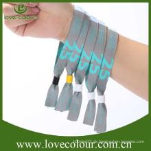 Heißer Verkauf preiswerter kundengebundener Gewebe Wristbands