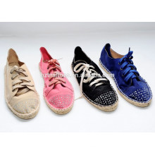 Lace-Up with diamond Style and TPR Outsole Material fashion quality canvas causal shoes