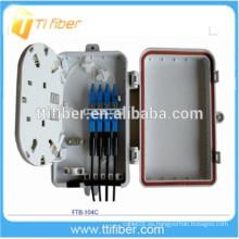 Caja de distribución óptica de fibra con conectores 4port SC, caja de distribución de divisor de fibra