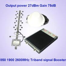 CDMA850 PCS1900 4G2600MHz Tri Band cellular Signal Amplifiers