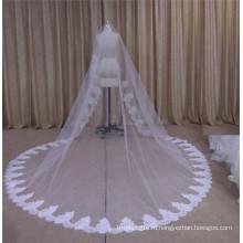 Длиной свадебная фата с кружевом