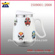 ceramic mug with stainless steel base