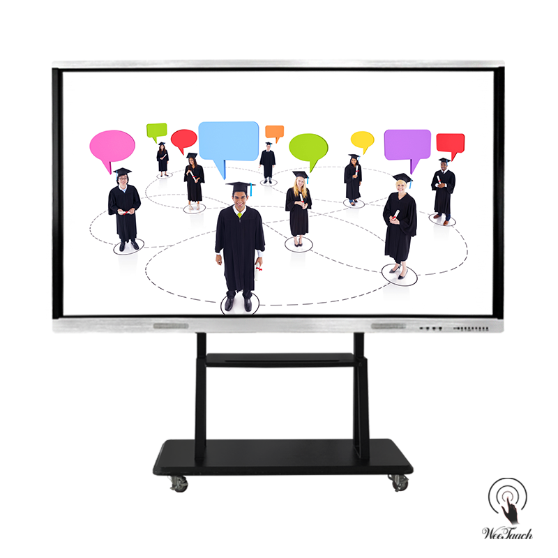 98 Inches UHD Touch Display with mobile stand