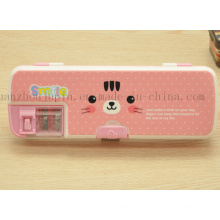 OEM School Student Stationery Plastic Pencil Case with Sharpener