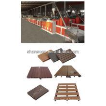 Linha de produção do perfil do assoalho de WPC / extrusora de madeira plástica do perfil da plataforma / máquina plástica de madeira