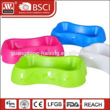 HAIXING bone cat shape plastic travel supreme dog bowl