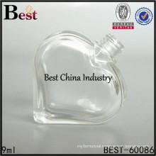 empty glass nail polish bottles unique heart shape nail gel bottle supply printing service
