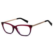 2021 New Custom Logo Acetate And Metal Optical Glasses Frames For Girls