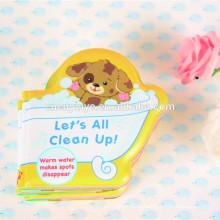 Waterproof shaped books, soft EVA bath book, educational baby bath toys