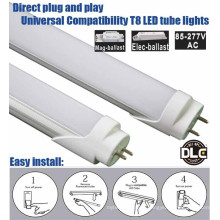 Shen zhen factory price 5 years warranty plug and play ballast compatible UL DLC 4 foot led tube 18 Watt