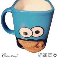 Taza de galleta de 14 onzas con diseño de cara