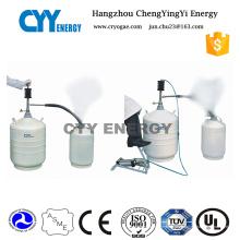 10L Aluminiumlegierung kryogener Flüssigstickstoffbehälter für Eiscreme