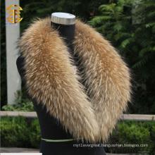Real Raccoon Fur Collar Women`s Neck Warmers Fur Scarf Shawl