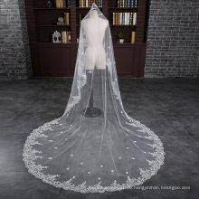 Nagelneue Kathedrale Länge 3 Meter Elfenbein Hochzeit Braut Schleier