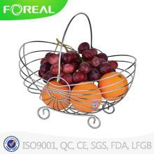 Mais recente grande venda Europeia estilo Home Decor fio cesta de frutas