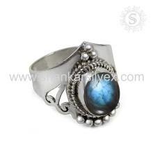 Splendid Labradorit Edelstein Silber Ring Großhandel 925 Sterling Silber Schmuck Jaipur Online Silber Schmuck