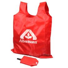 Sac à dos en nylon portatif, sac à provisions pliable (HBFB-37)