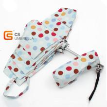 Bunte Punkte Cover Mini 5 Falten Regenschirm (YSF5003B)