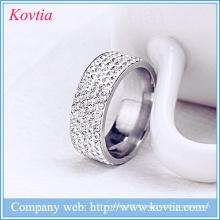 Dernier anneau en diamant design anneaux en or beaux bijoux en acier inoxydable yiwu