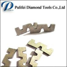 W Shape Abrasive Cutting Tools Diamond Segment for Granite Slab