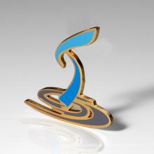 Custom Various Design Bulk UV Printing Gold Engrave Souvenir Metal Lapel Pin Badges Or Craft
