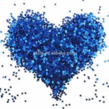 Blue Star Table Confettis Sparkle étoiles paillettes pour mariage Baby Shower Birthday Party décorations fournitures, 6 MM