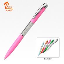 Прекрасный розовый цвет с алмазной металлической ручкой для свадебного подарка