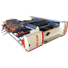 semi automatic double pcs folder gluer machine for gluing carton box