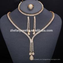2018 conjunto de joyas redondas Dubai conjuntos de joyas de oro 18 quilates para damas