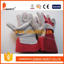 Guantes de seguridad para soldador de cuero dividido vaca Dlc211