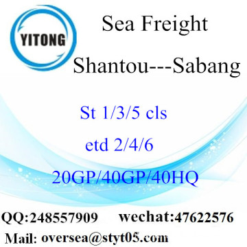 Shantou Port Sea Freight Shipping Para Sabang