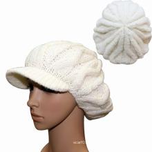 Senhora moda acrílico de lã malha chapéu gorro de inverno boina (yky3114)